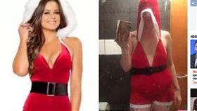 英國,聖誕節服裝,胸部,尺寸,差異(圖/翻攝自太陽報)