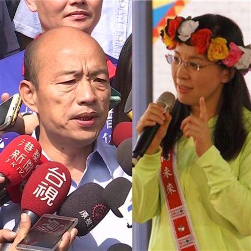 韓國瑜 陳瑩組合圖,新聞台+臉書