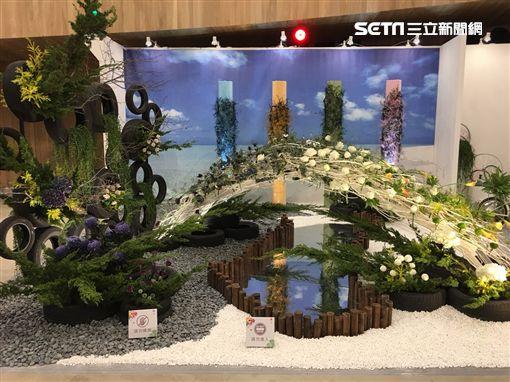 花博花舞館環保花藝競賽(台中市政府提供)