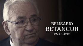 哥倫比亞前總統貝當固(Belisario Betancur)過世,享耆壽95歲。(圖/翻攝自@Citytv推特)