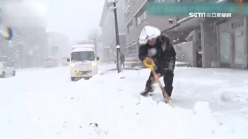 北海道大雪驟降! 車撞電線桿.班機延誤