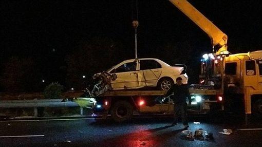 悲!搭上無照駕駛車 兩歲女童和父母天人永隔 苗栗 車禍 翻攝畫面