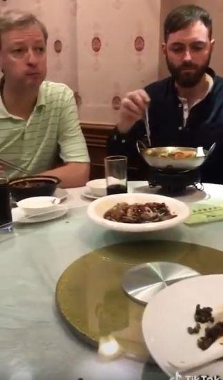 西方,外國人,合菜,大嬸(圖/翻攝自抖音)