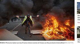 黃背心,法國,波爾多,手榴彈 圖/每日星報