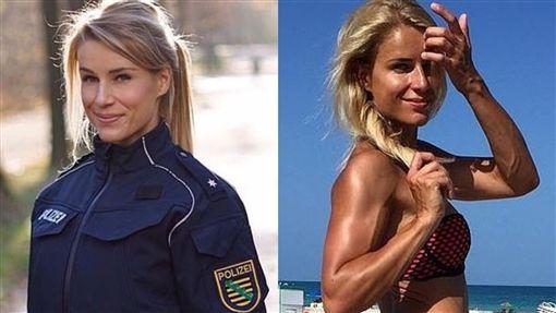 網紅,警察,德國,女警,選擇,模特兒,引響,上級,高層, 圖/翻攝自IG @adrienne_koleszar