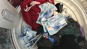 洗衣機,鈔票,洗衣服,小費,爆廢公社公開版 圖/翻攝自臉書爆廢公社公開版