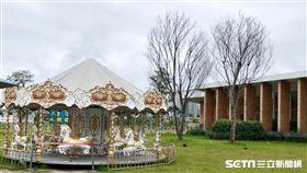 旋轉木馬,國泰豐格。(圖/記者蔡佩蓉攝影)