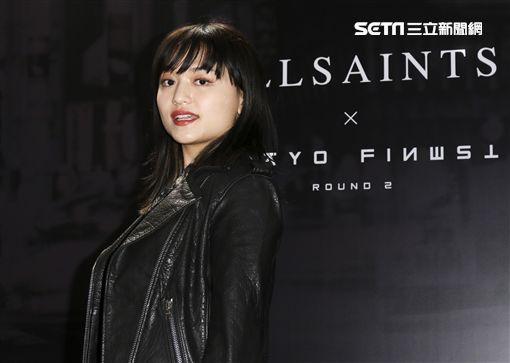 英國時尚品牌AllSaints音樂派對,日本靈魂歌姬iri出席現場。(記者林士傑/攝影)
