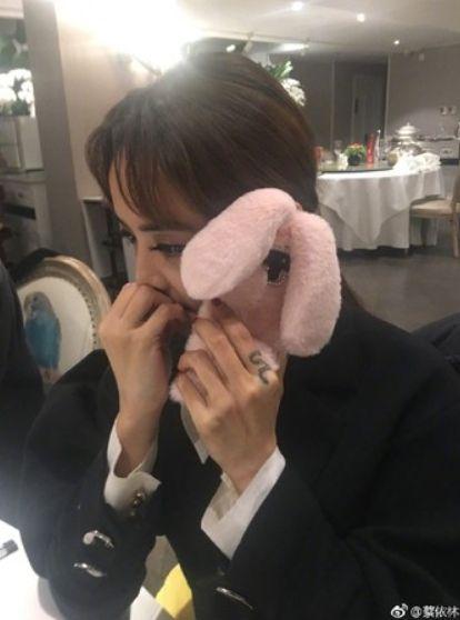 蔡依林,男友,手機殼,睡衣,兔子裝(圖/翻攝自蔡依林微博) ID-1681580