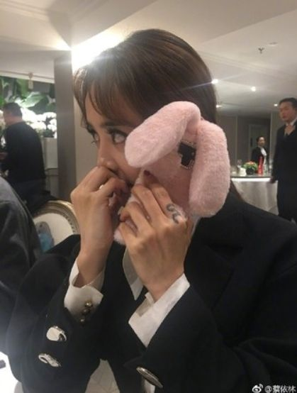 蔡依林,男友,手機殼,睡衣,兔子裝(圖/翻攝自蔡依林微博) ID-1681581