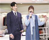 台視、三立偶像劇「你有念大學嗎?」女主角安心亞與男主角禾浩辰。(記者林士傑/攝影)