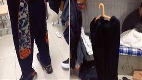 這款褲子竟變「網紅」啦!大陸北方日前瘋傳一件長褲照,可看到褲子明明沒人穿,卻能「自行站立」。原來是大陸北方天氣寒冷,所以褲子直接「結冰」。不少網友看到後,紛紛笑喊「寒冷讓它學會獨立!」(圖/翻攝自微博)