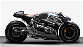 由BMW R nineT改造的Aurora概念車。(圖/翻攝網站)