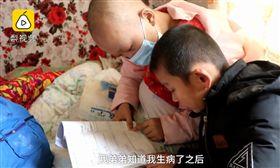 姐姐患白血病,8歲弟弟努力增肥想捐髓(圖/梨視頻)
