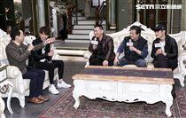 三立八點全新台劇「炮仔聲」主演徐亨、林在培、陳志強、吳東諺。(記者林士傑/攝影)