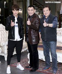 三立八點全新台劇「炮仔聲」主演徐亨、林在培、吳東諺。(記者林士傑/攝影)