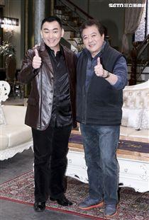 三立八點全新台劇「炮仔聲」主演徐亨、林在培。(記者林士傑/攝影)
