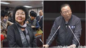 陳菊,林德福(圖/中央社、翻攝自立法院議事直播)