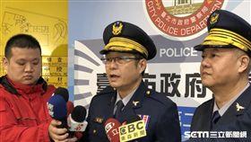 台北市警局督察長高壽孫說明案情(楊忠翰攝)