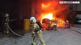 工廠,火警,濃煙,台南,翻攝畫面