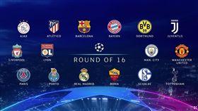 ▲歐冠16強出爐。(圖/取自UEFA官網)