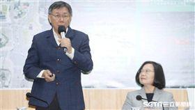 蔡英文與柯文哲會面,蔡柯會 圖/記者邱榮吉攝影