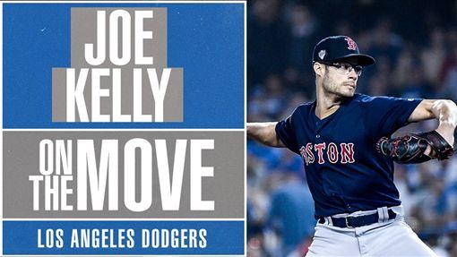 Joe Kelly轉戰道奇。(圖/翻攝自MLB推特)