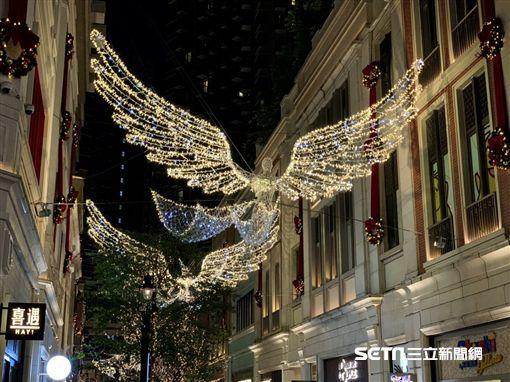 攝政街,香港,香港旅遊,聖誕節,利東街。(圖/記者馮珮汶攝)