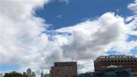 台北的天空(圖/翻攝自謝金河臉書)