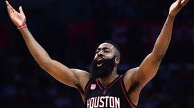 NBA/對決詹皇!哈登50分大三元  NBA,休士頓火箭,James Harden  翻攝自推特