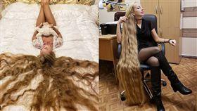 28年未剪髮!「長髮公主」每三周洗頭一次...驚呆眾人(圖/ig)