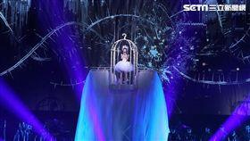 張韶涵以《吶喊》一曲開場。(圖/記者邱榮吉攝影)