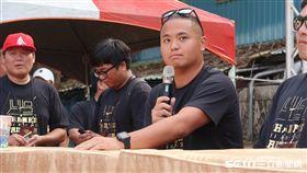 旅美球星胡智為參加張泰山的引退活動。(圖/記者王怡翔攝影)
