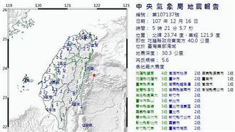 氣象局:一周內將有規模4以上餘震