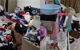 女兒房間如廢墟 網傻眼:這要怎麼睡 (圖/翻攝自爆廢公社公開版)