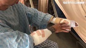士林夜市觀光發展協會宋姓男員工被人砍成重傷(翻攝畫面)
