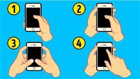 雙手滑=有效率!「4種滑手機方式」神解析個性 圖/翻攝自bright side