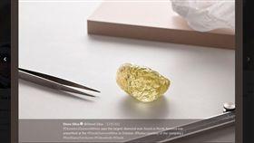 一顆重達552克拉的超級大黃鑽10月份於加拿大出土,刷新北美洲鑽石紀錄。(圖/翻攝自steve silva twitter)