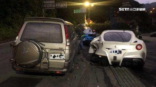 慘了! 20歲駕駛撞4台法拉利 維修1200萬