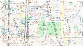 地圖,晶華酒店。(圖/翻攝自台灣百年地圖網站)