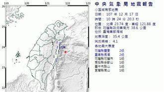 氣象局:未來一周有規模4以上餘震