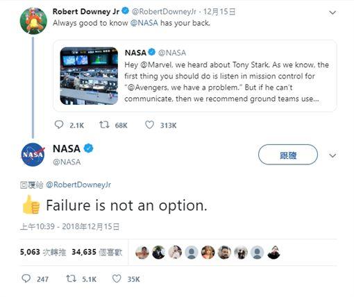 鋼鐵人回應NASA(圖/翻攝推特)