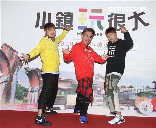 「綜藝玩很大」主持人吳宗憲、KID、小鬼。(記者邱榮吉/攝影)
