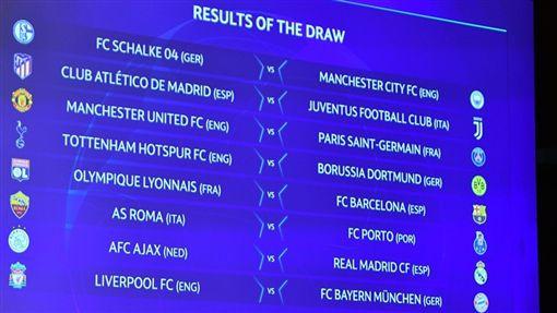 ▲歐冠16強抽籤。(圖/取自歐洲足聯網站)