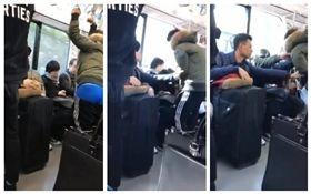 日本,電車癡漢騷擾女乘客(圖/翻攝自推特)