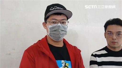 袁惟仁兒子袁義、經紀人Ivan圖/記者李依純攝影