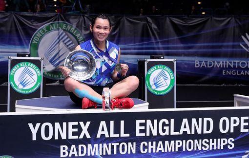 戴資穎在全英公開賽女單完成2連霸。(圖/翻攝自BWF官網)
