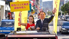 ▲台彩總經理蔡國基在基隆尋找頭獎得主。(圖/台灣彩券提供)