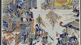 故宮亞洲探險記展 見證17世紀東西交流(1)17世紀是一個探索新知和拓展領域的時代,東西交流促進彼此理解。國立故宮博物院推出「亞洲探險記—17世紀東西交流傳奇」,其中的「青花釉上彩中國風與黑人紋飾壁磚」(圖)展現荷蘭人對東方的印象。(故宮博物院提供)中央社記者鄭景雯傳真 107年12月19日