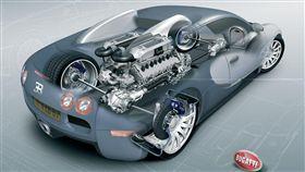 Bugatti W16引擎。(圖/翻攝Bugatti網站)